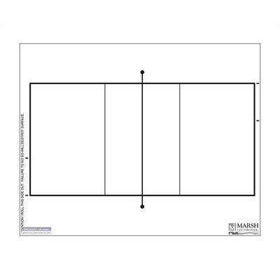 Marsh Dry-Erase Coaching Aides Mat - Volleyball Magnetic Whiteboard, 1' x 2'