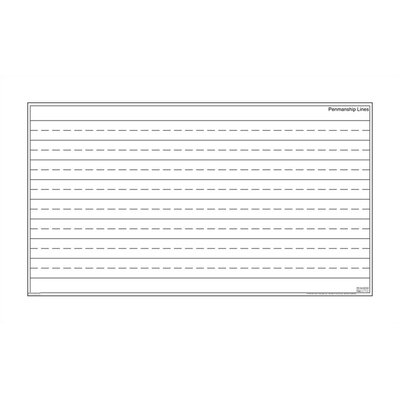 Marsh Dry-Erase Teaching Aides Mat - Penmanship Lines Magnetic Whiteboard, 3' x 3'
