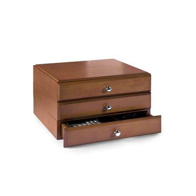 Bindertek Stacking Wood Desk Organizers, 3 Supply Drawer Kit