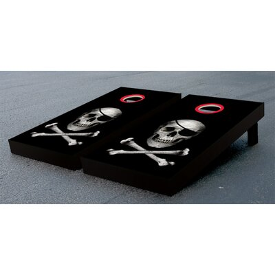 Skull And Crossbones Cornhole Bean Bag Toss Game by Victory Tailgate