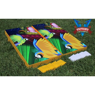 Parrot Paradise Cornhole Bean Bag Toss Game by Victory Tailgate