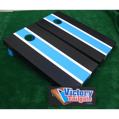 Matching Striped Cornhole Bean Bag Toss Game by Victory Tailgate