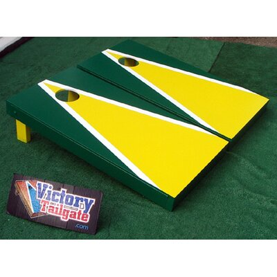 Matching Triangle Cornhole Bean Bag Toss Game by Victory Tailgate