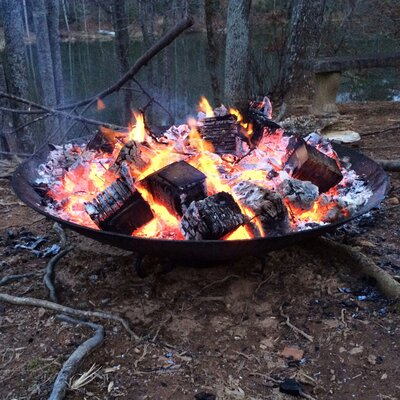 Safari Cast Iron Wood Fire Pit by Deeco