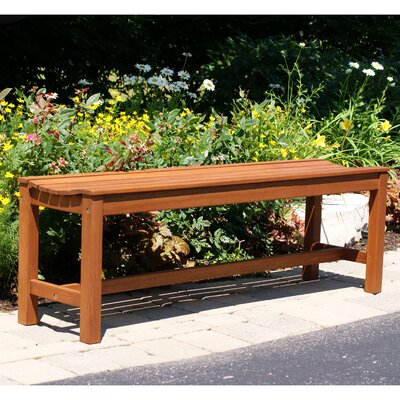 Outdoor Interiors 3 Seater Eucalyptus Hardwood Backless Garden Bench
