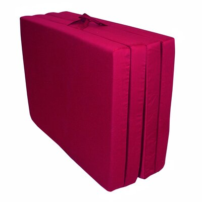 Burgundy Full Folding Floor Mat (Poly Cotton) by Elite Products