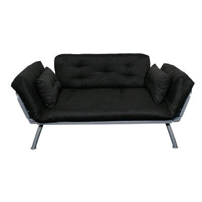 Mali-Flex Multi-Positional Twin Futon- Black by Elite Products