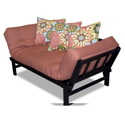 Hudson Kiki Pinata Futon in Orange by Elite Products