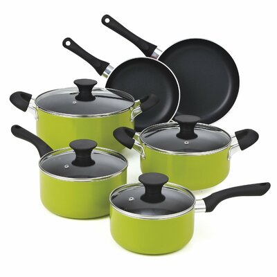 Non Stick 10 Piece Cookware Set by Cook N Home
