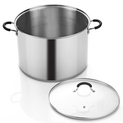 20-qt. Stock Pot with Lid by Cook N Home