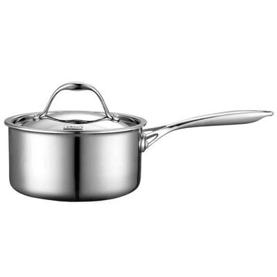 Multi-Ply Clad Stainless-Steel Covered Sauce Pan by Cooks Standard
