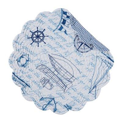 Coastal Fair Winds Reversible Round Quilt Placemat by C & F Enterprises
