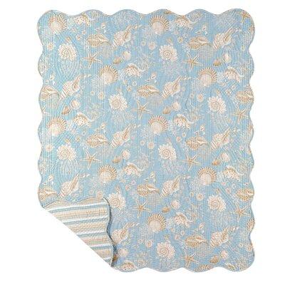 Natural Shells Stripes Quilt Cotton Throw Blanket by C & F Enterprises