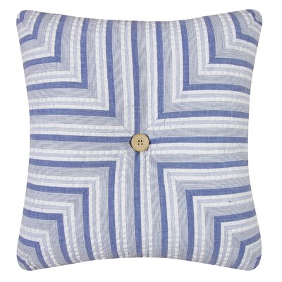 Nantucket Dream Striped Quilt Cotton Throw Pillow by C & F Enterprises