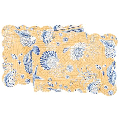 Seashells Quilted Scallop Table Runner by C & F Enterprises