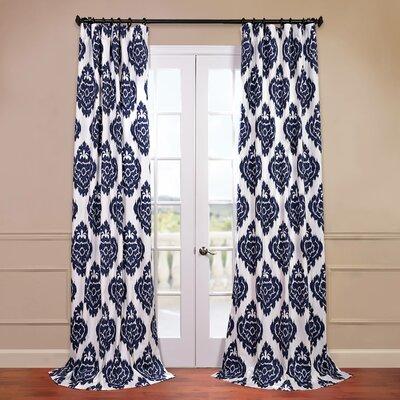 Ikat Printed Cotton Single Curtain Panel Product Photo