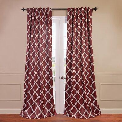Trellise Blackout Single Curtain Panel Product Photo