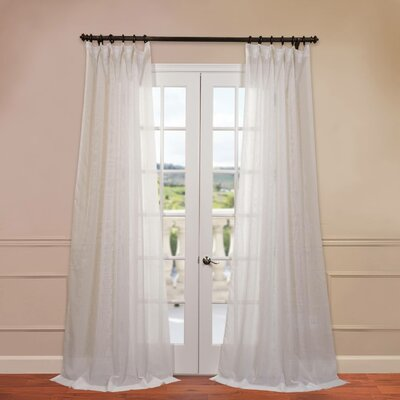 Signature Double Layered Sheer Single Curtain Panel Product Photo