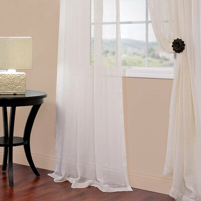 Solid Voile Sheer Curtain Panel Product Photo