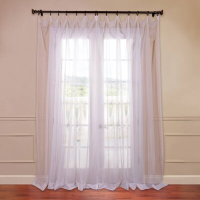 Doublewide Solid Voile Sheer Single Curtain Panel Product Photo