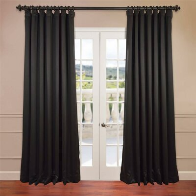Doublewide Plush Blackout Single Curtain Panel Product Photo