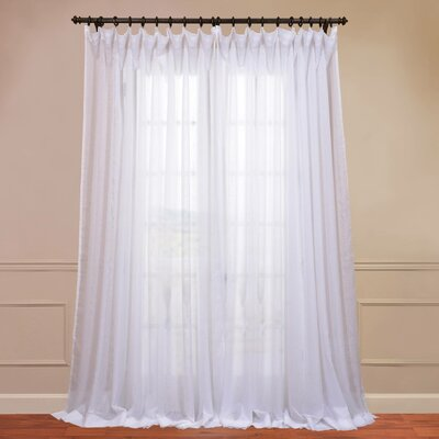 Signature Double Layered & Double Wide Sheer Single Curtain Panel Product Photo