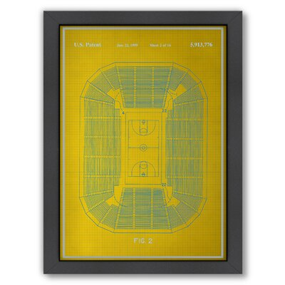 Basketball Court Graphic Art by Americanflat