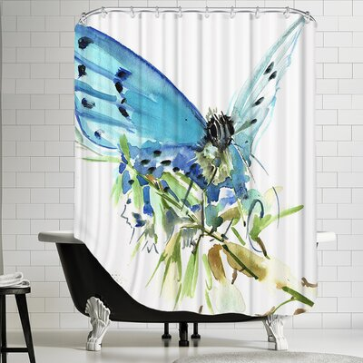 Butterfly 2 Shower Curtain by Americanflat