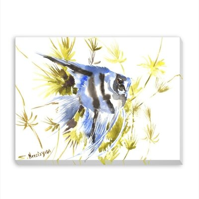 Angelfish Aquarium Painting Print on Wrapped Canvas by Americanflat