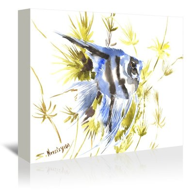 Angelfish Aquarium Painting Print on Gallery Wrapped Canvas by Americanflat