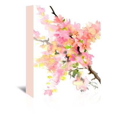 Cherry Blossom Sakura Painting Print on Wrapped Canvas by Americanflat