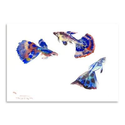 Guppy Aquarium Painting Print by Americanflat