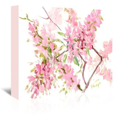 Cherry Blossom Painting Print on Wrapped Canvas by Americanflat