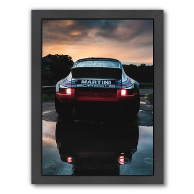 Martini Porsche Framed Photographic Print by Americanflat