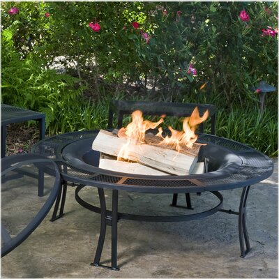 CobraCo Steel Mesh-Rimmed Fire Pit and Bench Set