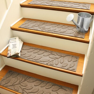 Aqua Shield Camel Brittany Leaf Stair Tread