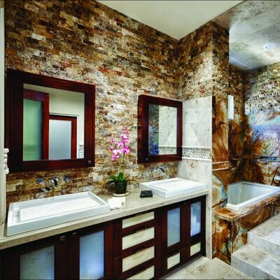 Msi Tuscany Scabas 2 Quot X 4 Quot Travertine Splitface Tile In