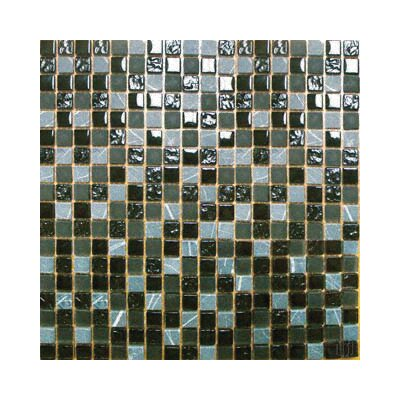 MS International Tumbled 0.625'' x 0.625'' Glass Mosaic Tile in Black Marquee