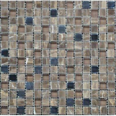 0.625'' x 0.625'' Glass Mosaic Tile in Emperador Café Blend by MSI