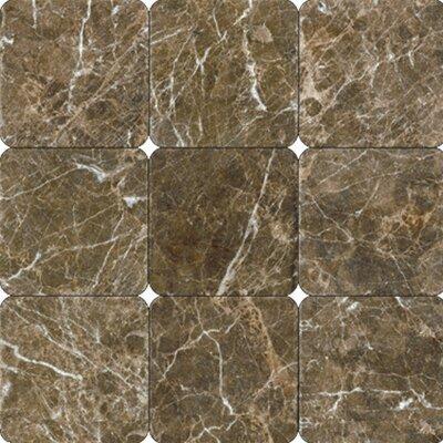 18'' x 18'' Marble Mosaic Tile in Laurent Brown by MSI