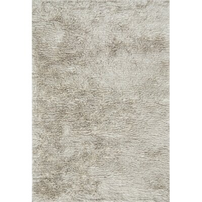 Loloi Rugs Garden Shag White Solid Stone Indoor Outdoor