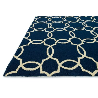 Loloi Rugs Ventura Navy/Ivory Geometric Indoor/Outdoor Area Rug