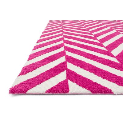loloi rugs piper pink white area rug reviews wayfair. Black Bedroom Furniture Sets. Home Design Ideas