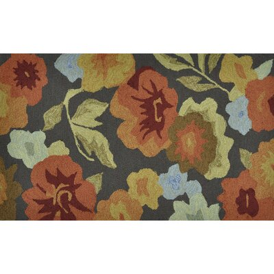 Summerton Dark Brown Floral Rug by Loloi Rugs