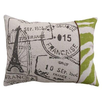 123 Creations French Stamps Screen Print Linen Lumbar Pillow