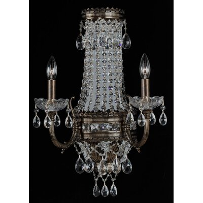 Alpha 2 Light Crystal Chandelier by Classic Lighting