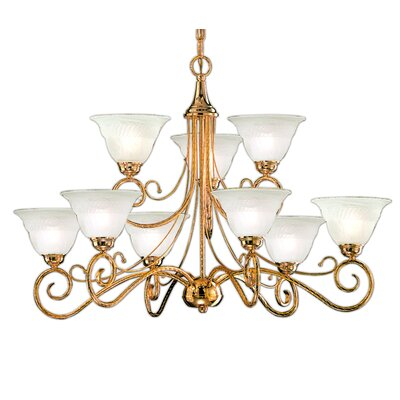 Torino 9 Light Chandelier by Classic Lighting