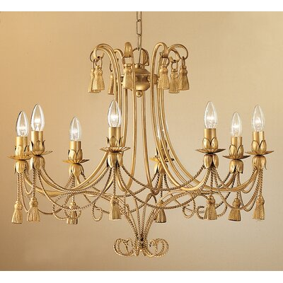Rope and Tassel 8 Light Chandelier by Classic Lighting