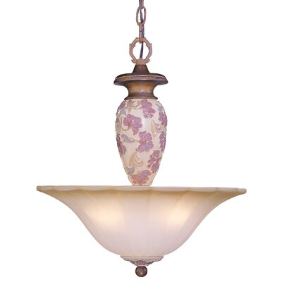 Tapestry 3 Light Inverted Pendant by Classic Lighting