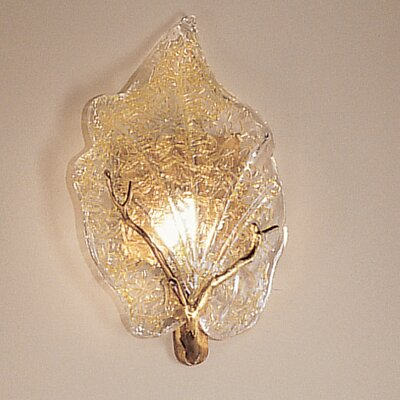 Classic Lighting Autumn Leaves 1 Light Wall Sconce